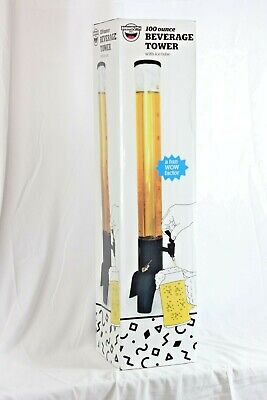 Beer Tower 100 Oz. Clear Beverage Tower Dispenser With Included Ice Tube Nib