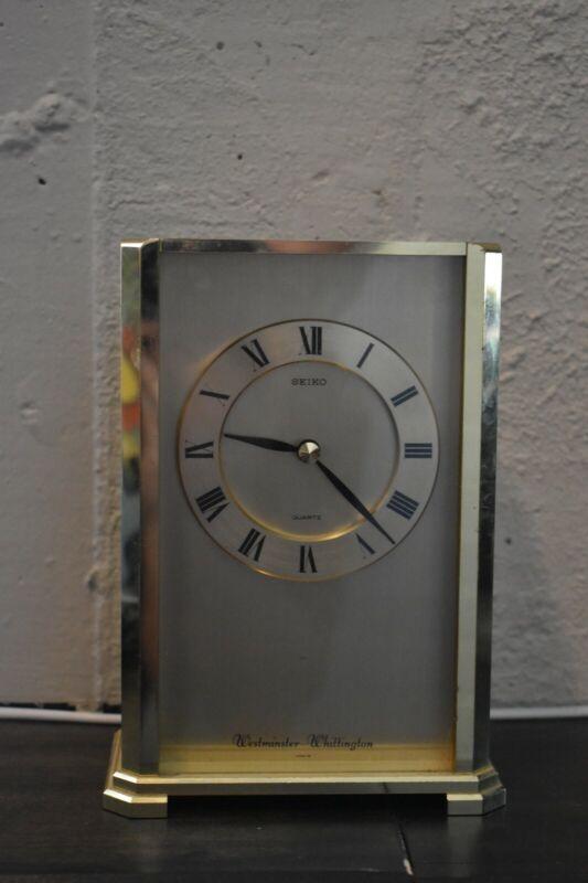 Seiko Brass Copper Clock 1990 s