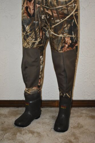 Game Winner by Academy Hunting Camo Waders Full Suit Neoprene Size 9 Excellent!
