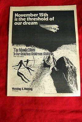 THE MOODY BLUES ORIGINAL 1969 VINTAGE POSTER ADVERT CHILDRENS CHILDRENS CHILDREN