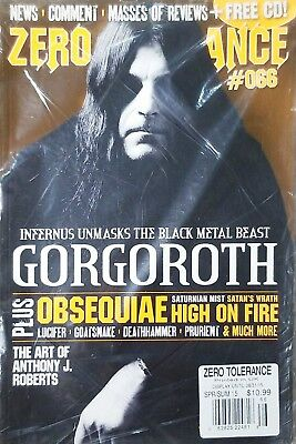 ZERO TOLERANCE SPRING/SUMMER 2015(GORGOROTH INFERNUS UNMASKS THE BLACK METAL...^, used for sale  Shipping to India