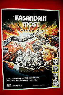 CASSANDRA CROSSING 76' RICHARD HARRIS SOPHIA LOREN AVA GARDNER EXYU MOVIE POSTER