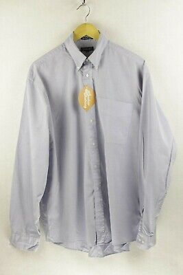 Mens GANT Shirt PIN POINT OXFORD Long Sleeve LOOSE Fit Large VERY GOOD P2 Loose Fit Oxford