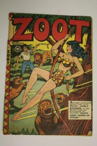 ZOOT COMICS #8 Rulah Jungle Goddess Matt Baker Art Vintage Golden Age 1947 Fox