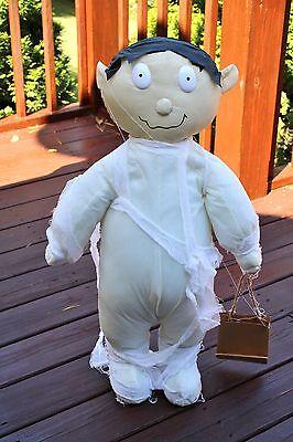 "Halloween Mummy Free Standing Porch Foyer 30"" Figurine Decor Trick or Treat"