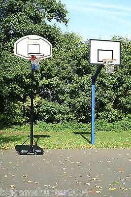 Bee-Ball Pro-Bound Full Size Basketball Stand Net and Hoop adjustable height