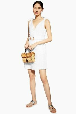 Topshop White Broderie Dress Size 8