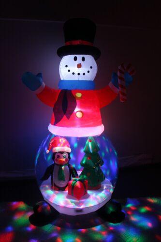 Christmas Air Blown Lighted Inflatable Art Decoration Snowman Globe Penguin Tree