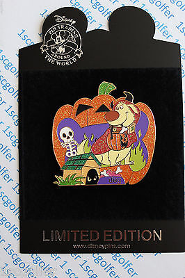 Disneystore Com   Halloween Pumpkin   Pixar Up Dug Le 125 Rare Disney Pin Cute
