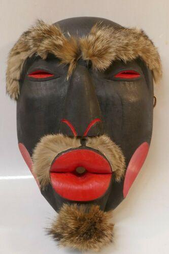 Northwest Tlingit Hand Carved Polychrome Koo-da-kah Mask By Arthur Kodwat
