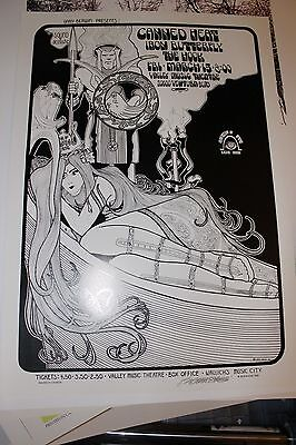 Canned Heat Iron Butterfly 1969 Los Angeles Concert Poster 2Nd Print Bob Masse