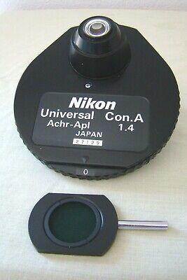 Nikon Microphot Optiphot 1.4 Universal Dic A Nomarski Phase Condenser Microscope