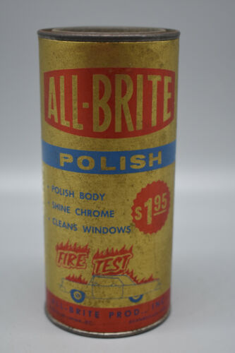 "Vintage All-Brite Polish 3 oz Can, Can feels Solid, 5 1/2"" Tall.   Preowned"
