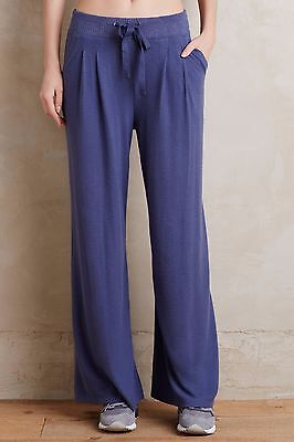 (NWT Sz S Anthropologie Ingleside Wide-Leg Loungers Blue Pants Size Small )