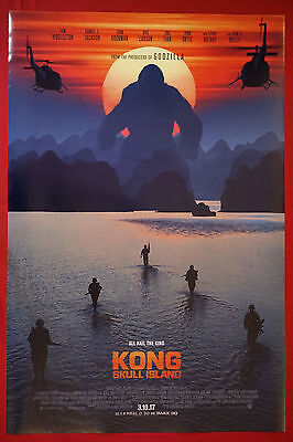 Kong Skull Island King Kong Ape Island Ocean 2017 Movie Poster 24X36 New   KONG