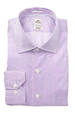 Bengal Stripe Striped Dress Shirt - Peter Millar Nanoluxe L/S, Regular Fit Bengal Stripe Dress Shirt,16L, $145 NWT