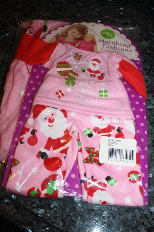 """NWT 5 girls dollie & me 2 pc pajama set- """"Dear Santa"""""""