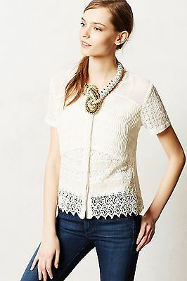 Anthropologie Buttoned Lace Midi Blouse by Let Me Be Lace New NWT for sale  Shipping to India