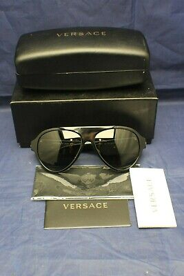 Versace Sunglasses VE 4323 GB1/87 Black / Gray 58 mm with Case and Box