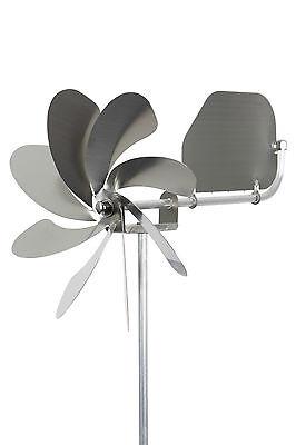 """A1004 - steel4you Windrad """"Speedy20 plus"""" mit Windfahne aus Edelstahl Garten neu"""