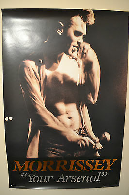The Smiths  Morrissey. Your Arsenal promo poster with Gold embossed Morrissey
