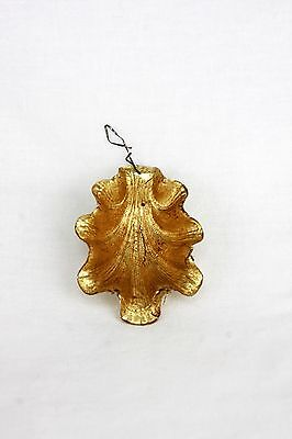 Antique German Dresden Clam Shell Christmas Ornament