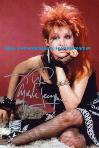CYNDI LAUPER KINKY BOOTS TIME AFTER TIME SEXY SIGNED 12x18 POSTER PHOTO REPRINT