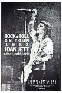 Joan Jett & The Blackhearts Rock N' Roll Tour San Jose Civic Poster 1982  12x18
