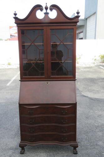 Tall Mahogany Early 1900s Secretary Desk by Rockford Furniture 1878