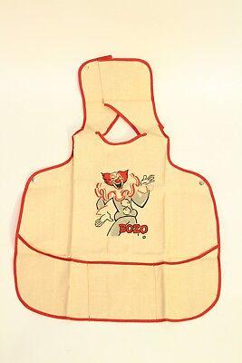 Vtg Antique Jane Withers Bozo the Clown Burlap Sackcloth Childs / Baby Bib Apron for sale  Ivins