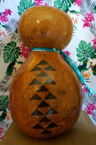 """Hawaiian Hula Ipu - MediumTradition Ipu Heke 18 1/2"""" Polynesian Design"""