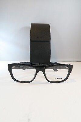 Prada VPR 24R 1AB-1O1 Shiny Black New Authentic Eyeglasses 54mm w/ Case