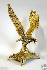Adler Aar Messing großer Adler Figur Standfigur Dekorativer Adler Höhe 26 cm