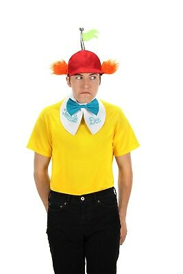 Alice In Wonderland Tweedle Dee Dum Hat Reversible Collar Tie Costume Kit Elope - Tweedle Dee