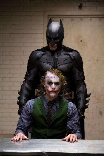 THE DARK KNIGHT CHRISTIAN BALE AND HEATH LEDGER AS BATMAN & THE JOKER RARE PHOTO