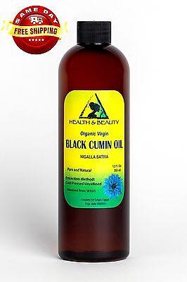 Black Cumin Seed Oil Unrefined Organic Virgin Raw Cold Pr...