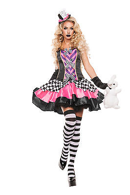 Sexy Halloween Starline Adult Women's Fancy Mad Hatter Costume w Hat](Starline Halloween Costumes)