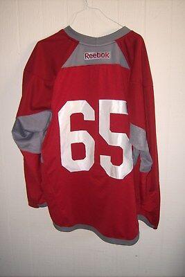 23394142e02000 ARIZONA COYOTES rare worn Kyle Wood #65 RBK red practice jersey (2016  preseason)