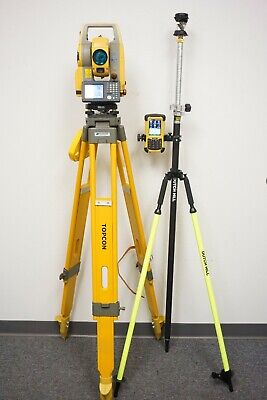 Topcon Ds105 Ac 5 Robotic Total Station Fc-236 Data Collector W Magnet V 4.2