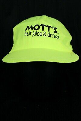 VTG MOTTS Neon Hat Fruit Juice Snap Back - Fruit Hat
