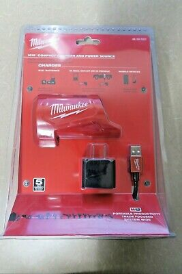 Milwaukee 48-59-1201 M12 Li-ion Battery Charger And Power Source New Ships Free