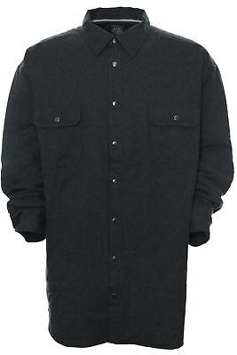Kitaro Hemd Gefüttert Overshirt Shirt Herren Langarm Plusgröße