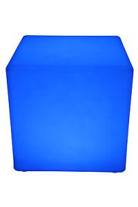 Leuchtwürfel LED Farbwechsel 40cm Lampe Würfel Sitzwürfel Akku FB