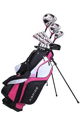NEW Aspire XD1 Ladies Womens Complete Golf Club Package Set - Cherry Color - RH
