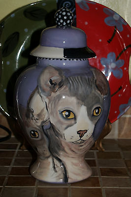 Custom Pet urn for ashes Cat CATS cremation urn Med memorial SPHYNX hairless cat