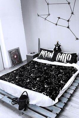 Killstar Milky Way Blanket NEW Astonomical Stars Galaxy Moon Child Phases Goth ()