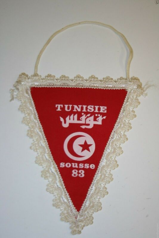 Rare Vintage Sousse Tunisie Rotary International Club Wall Hanging Banner Flag