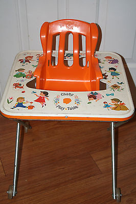 "Mattel ~ Vintage 1963 Chatty Cathy Baby 16"" Table/High Chair, Rare"