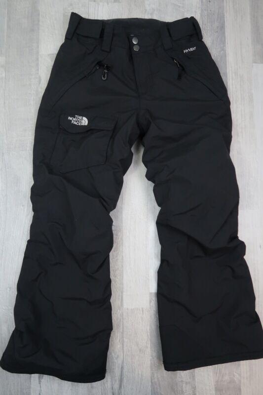 Youth Boys The North Face Hyvent Black Snow Ski Pants Size Medium 10/12