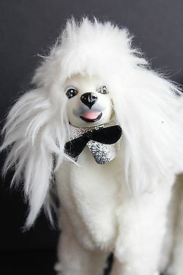 Barbie Posable Prince Dog White French Poodle w/ Collar Vtg 1984 Mattel